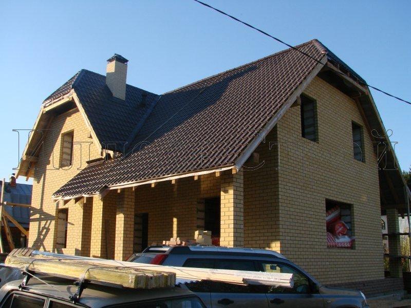 Двухэтажный комбинированный загородный дом 150 м2