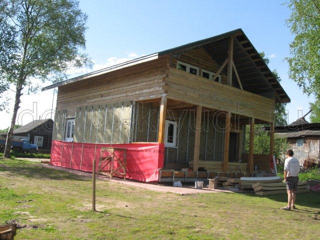 Выполнение 2 этапа строительства дома из бруса под ключ с отделкой с