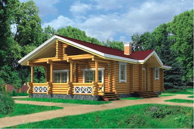 Дом из оцилиндрованного бревна проект