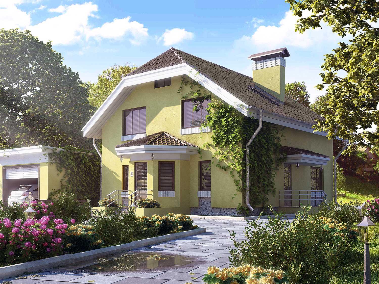 дом из пеноблоков проект
