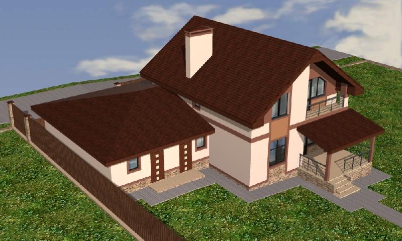 фасад дома проект Истра