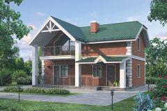 Дом из пеноблоков 90,6 кв.м проект № 54-65