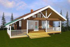 Дом из пеноблоков 105 кв.м проект Pioni