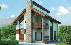 Дом из пеноблоков 112 кв.м проект № 53-89