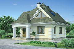 Дом из пеноблоков 102,8 кв.м проект 54-30