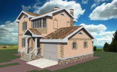 Дом из пеноблоков с гаражом 98,1 кв.м проект № MR2